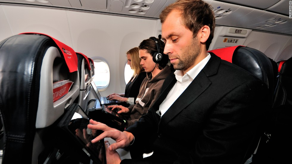 Norwegian Air is one of several carriers that rely on passengers' personal devices to provide the in-flight entertainment.