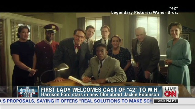 Michelle Obama screens '42'