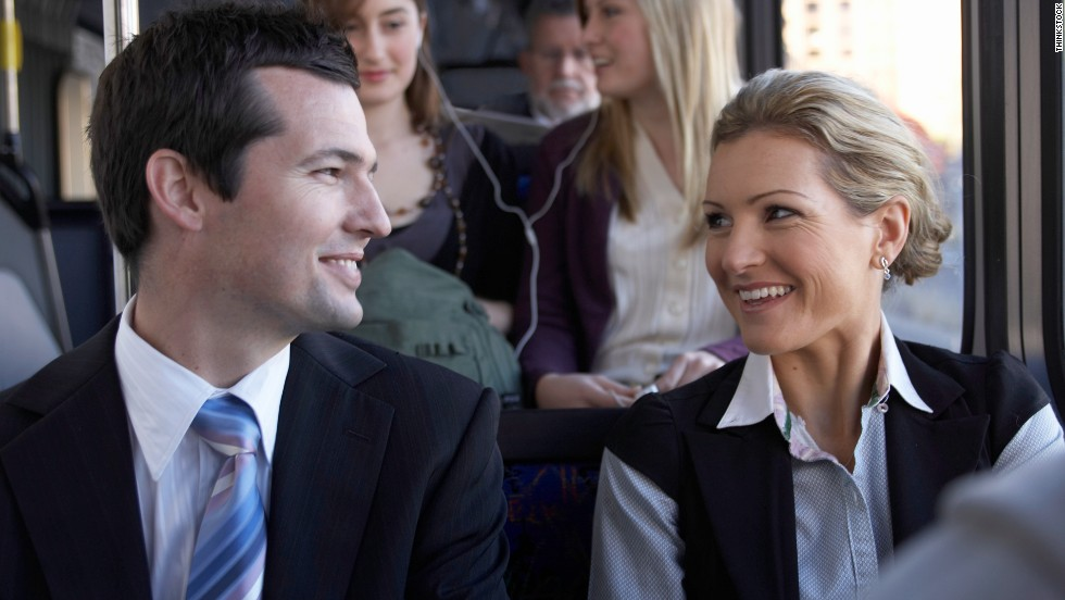 A bus commute can offer extra time to socialize or catch up on reading.
