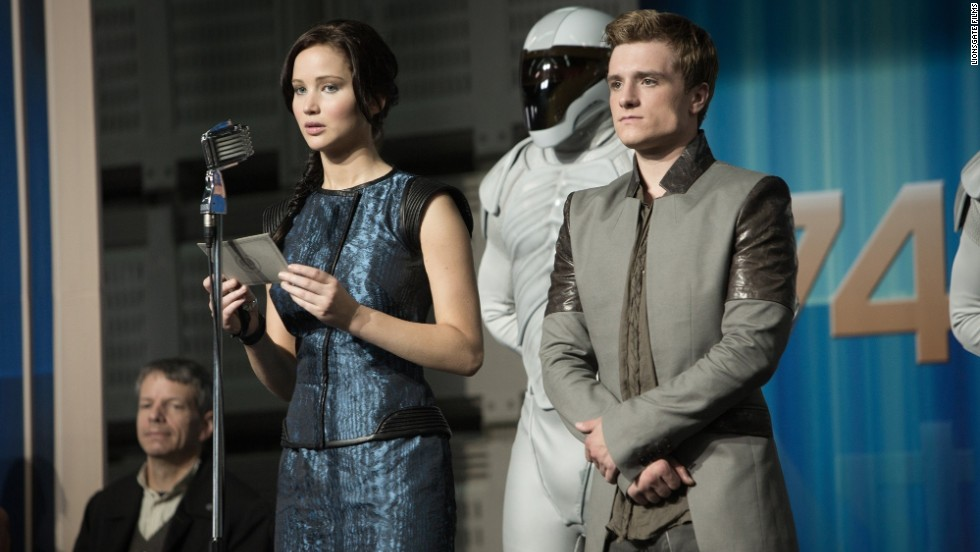 """The Hunger Games: Catching Fire"" starring Jennifer Lawrence and Josh Hutcherson."