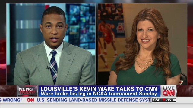 Louisville's Kevin Ware talks to CNN