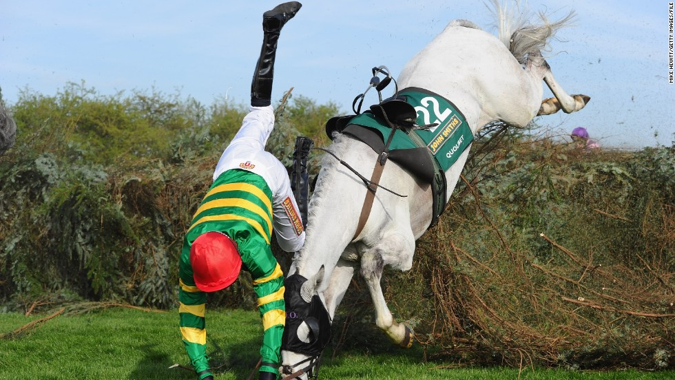 Aintree is one of the toughest steeplechase courses in the world, with around 40 thoroughbreds leaping over 30 fences during the 10-minute race.