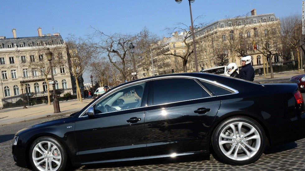 David Beckham opted for a black Audi during his time at Paris Saint-Germain.