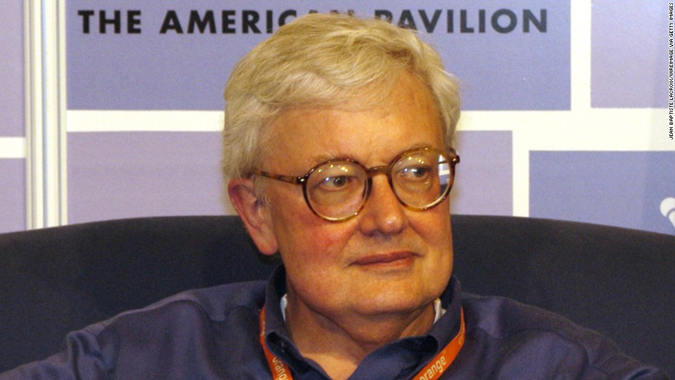 Ebert at the 2003 Cannes Film Festival Roundtable at the American Pavilion in Cannes, France.