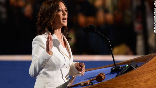 California attorney general Kamala Harris speaks at the 2012 Democratic National Convention.