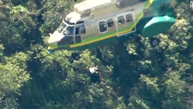 See daring rescue of hiker