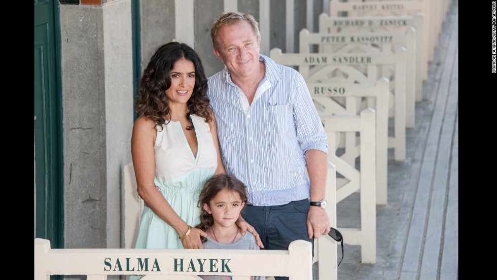 Salma Hayek was 41 when she gave birth to Valentina Paloma Pinault in 2007. Her husband is Francois-Henri Pinault.