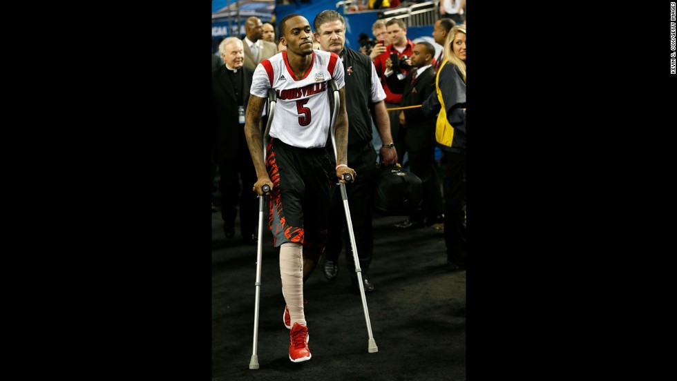 Kevin Ware heads to the bench before the game.