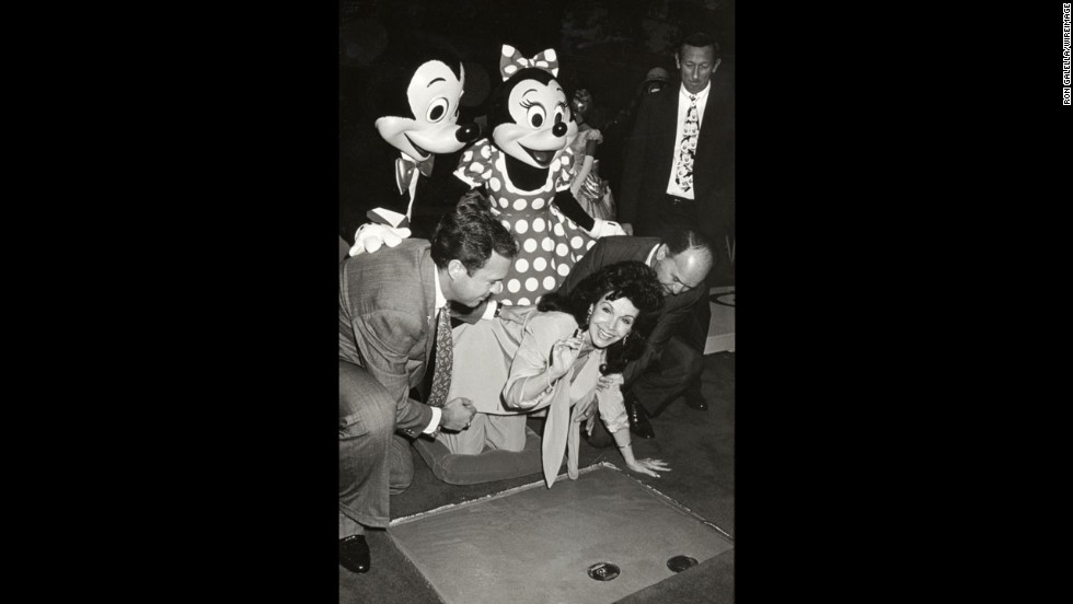 Funicello is at the 1992 Disney Legends Awards at Walt Disney Studios in Burbank, California.
