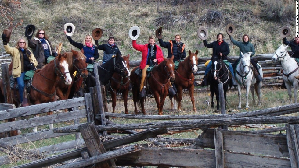 Triple Creek Ranch in Montana is hosting a 100-kilometer, women-only fundraising ride in October called Klicks for Chicks.