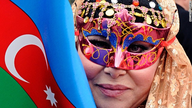 A woman takes part in the celebration of Navruz, the Central Asia's spring welcome festival, in Baku, the capital of Azerbaijan, on March 19, 2013.