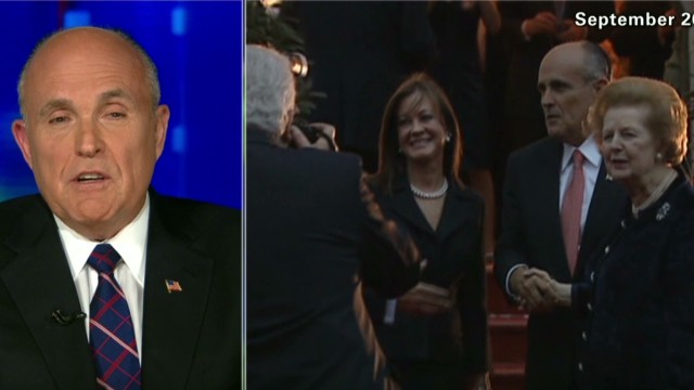 Giuliani remembers Margaret Thatcher