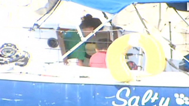 Video shows family on boat in Cuba