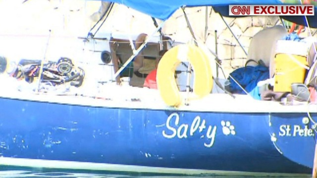 This is CNN Exclusive first pictures of the Hakken family boat in the Havana boat Marina. Josh and Sharyn Hakken of Louisiana are accused of kidnapping their own children and sailing to Cuba.