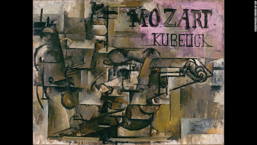 """The Violin [Mozart/Kubelick]"" by Georges Braque, early spring 1912."