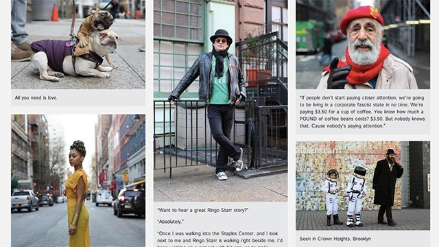 The Humans of New York site, which featues photos of everyday New Yorkers, has been nominated for a Webby Award.