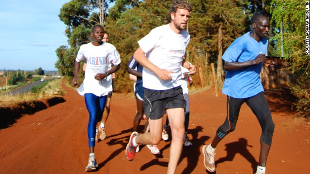 The author says running with Kenyan friends is among his best memories of his time spent in the African nation.