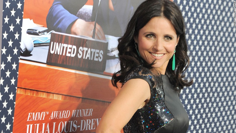 "Julia Louis-Dreyfus attends the Los Angeles premiere for the second season of HBO's ""Veep."""
