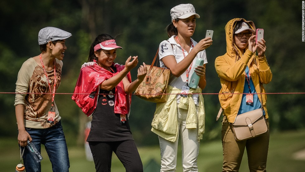 You might want to leave your cellphone at home if you're going to Augusta. Phones are banned by the organizers and taking photos with any type of camera is prohibited, so best to refrain if you want to keep hold of your ticket.
