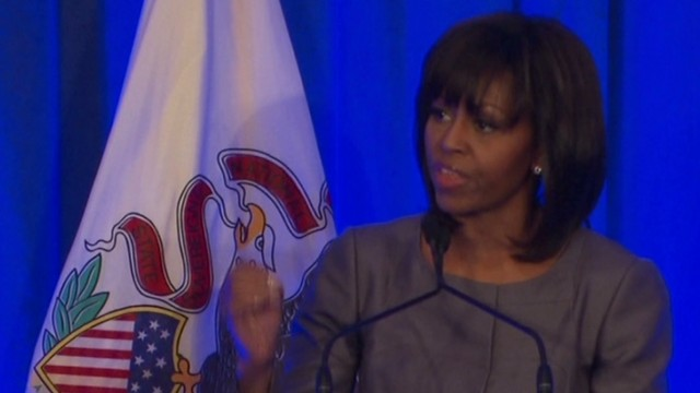 First lady: Gun control just the start