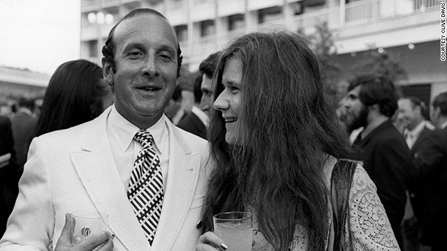 Janis with music impresario Clive Davis, not Bobby McGee.
