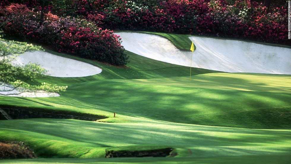 "The 13th hole, known as ""Azalea,"" was famously eagled by Byron Nelson in 1937 on his way to winning the Masters."
