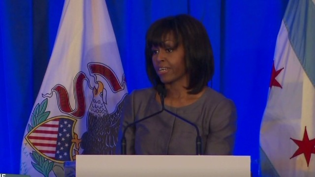Michelle Obama wades into gun debate
