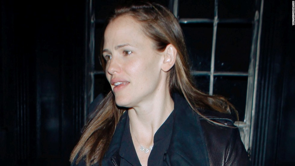 Actress Jennifer Garner, the mother of three, appears makeup-free at Tavern Restaurant in Los Angeles on March 28.