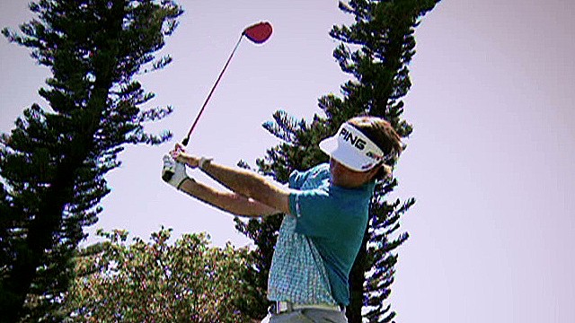 Check out Bubba Watson's trick shots