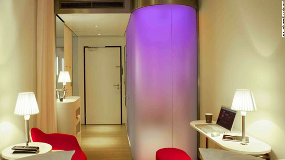 This Times Square hotel is set to open in October 2013. Tech addicts will geek out over the handheld, electronic mood pad that lets them design their entire space, from colored lighting and ambient music to digital art (on the TV).