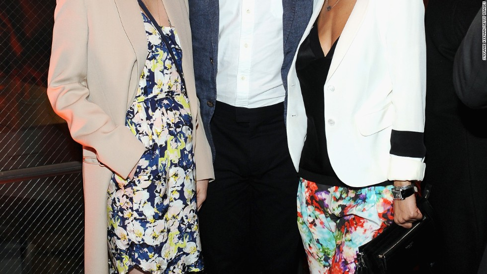 January Jones, Chris Pine, and Emmanuelle Chriqui attend an event in Santa Monica.