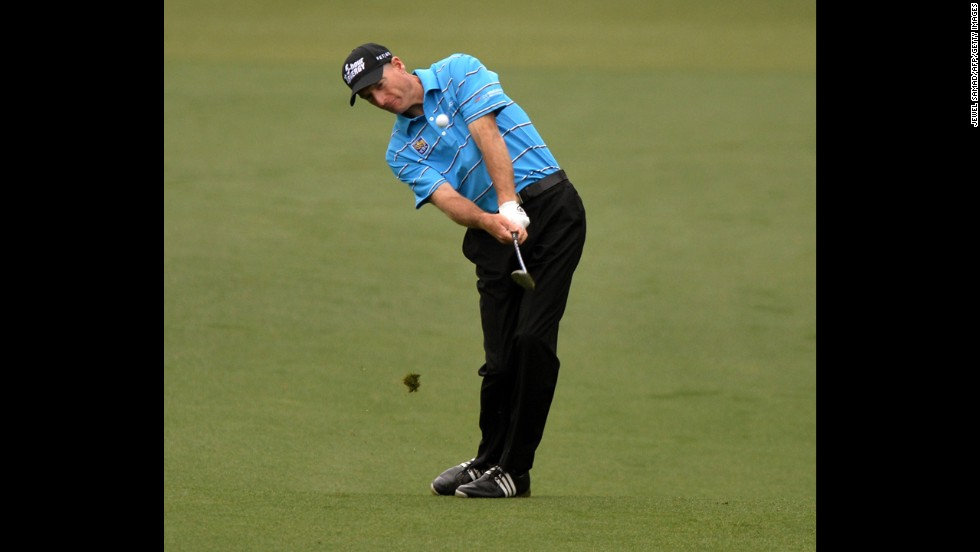 Jim Furyk of the U.S. plays during the first round.