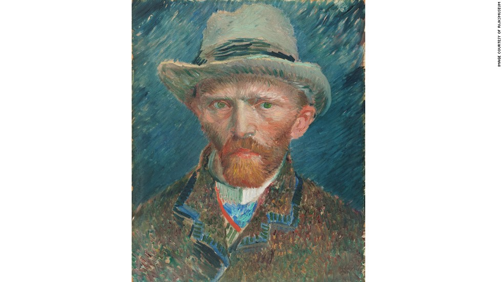 The museum's collection of one million objects, some 8,000 of which are on display at any one time, span 800 years, from the Middle Ages to modern artist Piet Mondrian, and including this 1887 self portrait by Vincent Van Gogh.