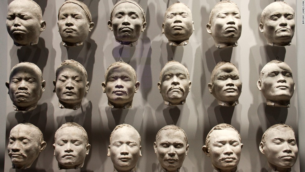 "Disturbing periods of Dutch history are also acknowledged. These facial casts of Nias Islanders, made by anthropologist J.P. Kleiweg de Zwaan as part of his studies of racial ""types"" are displayed alongside a concentration camp uniform and a chess set given as a gift by Nazi Heinrich Himmler."