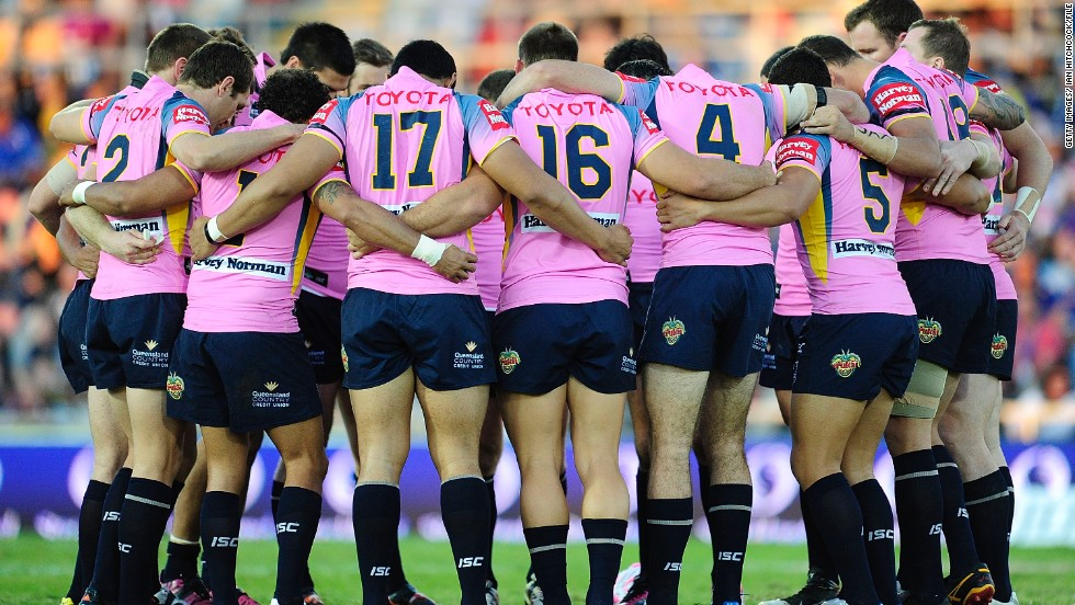In some cases a minute's silence is held for more personal reasons. This Australian rugby team held a minute's silence after the mother of one of the players died suddenly.