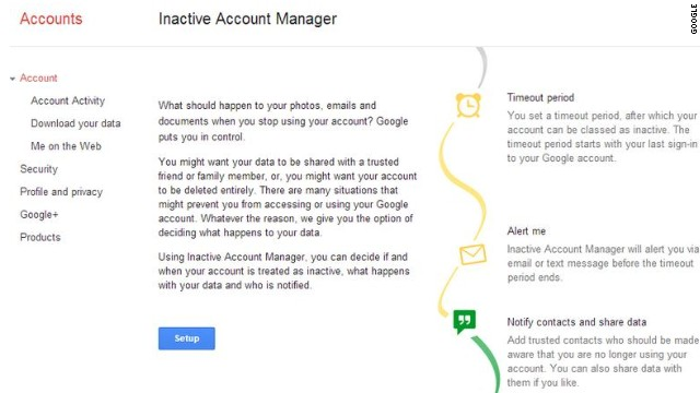 A new tool from Google lets users tell it what to do with their account if they disappear for a long time. Or are dead.