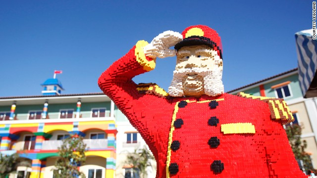 The hotel features 3,400 Lego sculptures.