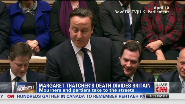 Thatcher's death brings mixed reactions