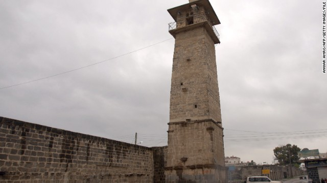 A file image taken in 2011 of the Omari mosque in the southern Syrian city of Daraa.