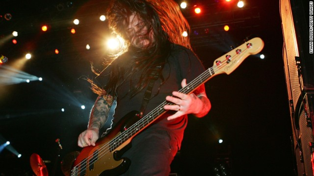 Chi Cheng of the Deftones performs on November 11, 2006, in Las Vegas.
