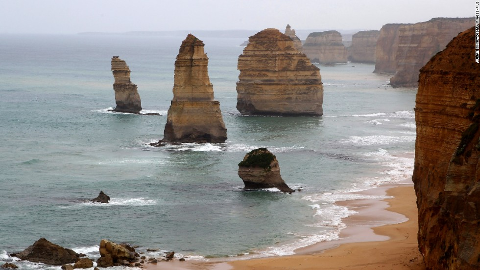 While only eight of these limestone stacks survive, Australia's Twelve Apostles still make for an arresting sight along the Great Ocean Road in Victoria.