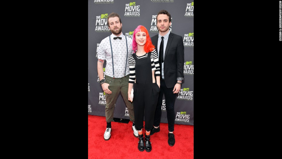 Jeremy Davis, Hayley Williams and Taylor York of Paramore