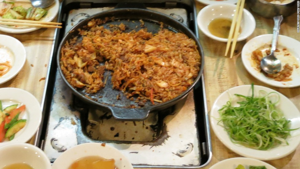 Dong Il Jang is also known for its kimchi fried rice, made in the pan after the roast gui has been cooked.