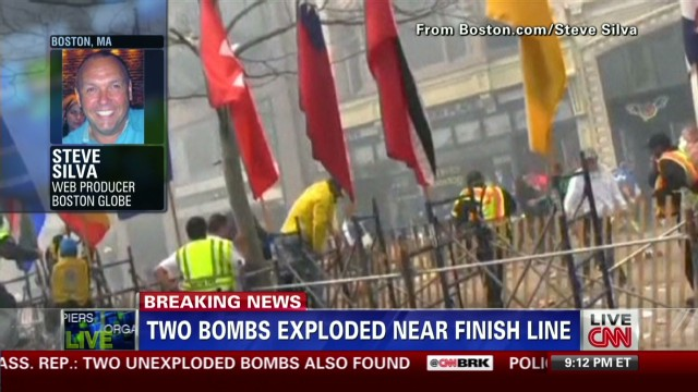 Producer captures Boston blast on video