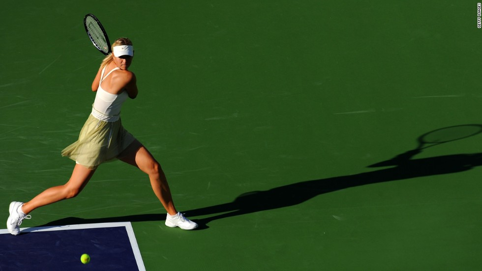 Sharapova attempted a comeback in 2009 when she played doubles in Indian Wells. But she still wasn't ready to return.