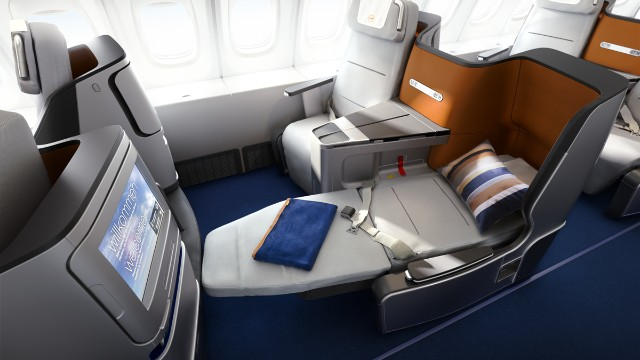 Lufthansa's new business class seating.