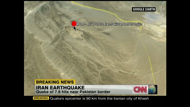 7.8 earthquake hits Iran-Pakistan border