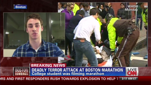 Student was filming Boston Marathon