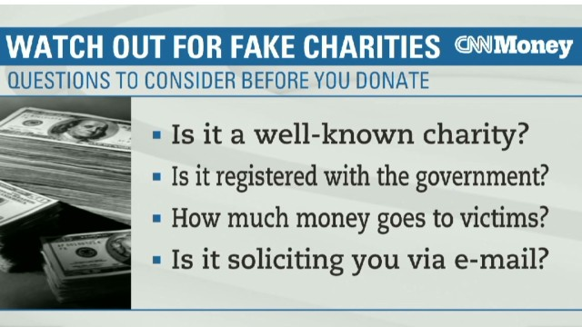 Beware fake Boston bombing charities