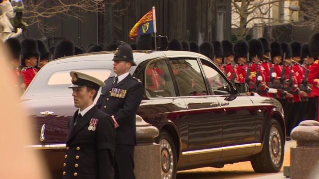 Queen attends Thatcher's funeral